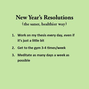 a list of 3 simple resolutions