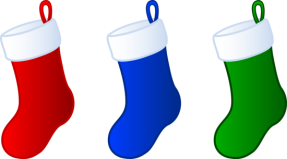 three christmas stockings